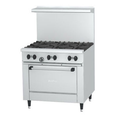 "Garland X36-6S 36"" SunFire 6 Burner Gas Range w/ Storage Base, LP"