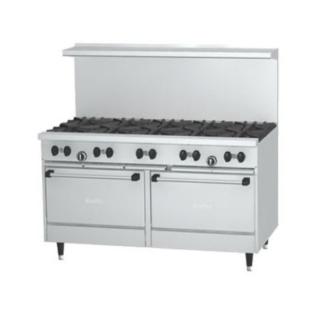 "Garland X60-10RS 60"" SunFire 10 Burner Gas Range w/ Standard Oven, LP"