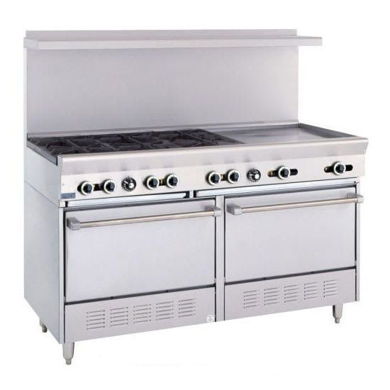 "Garland X60-6G24RS 60"" SunFire 6 Burner Gas Range w/ Griddle, LP"
