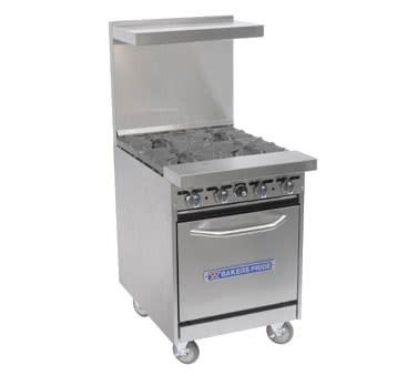 "Bakers Pride 24-BP-4B-S20 24"" 4-Burner Gas Range w/ Standard Oven, NG"