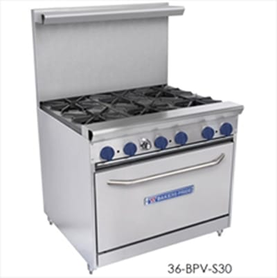 "Bakers Pride 24-BPV-4B-S20 24"" 4 Burner Gas Range, LP"