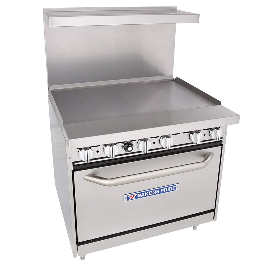 """Bakers Pride 36-BP-0B-G36-S30 36"""" Gas Range with Griddle, NG"""