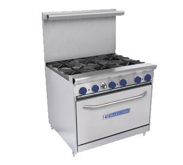"Bakers Pride 36-BPV-6B-S30 36"" 6-Burner Gas Range w/ Standard Oven, LP"