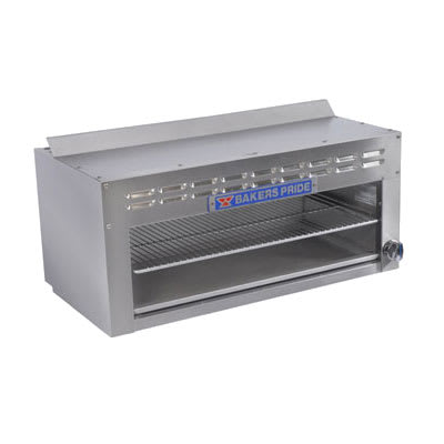 "Bakers Pride BPCMI-48 48"" Gas Cheese Melter w/ Infrared Element, Stainless, LP"