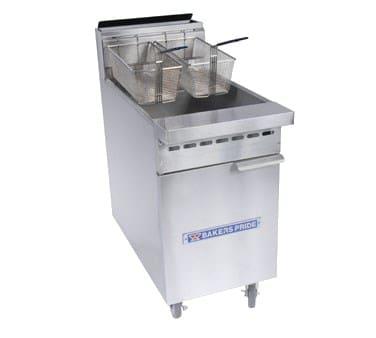 Bakers Pride BPF-3540 Gas Fryer - (1) 40 lb Vat, Floor Model, NG