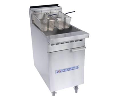 Bakers Pride BPF-4050 Gas Fryer - (1) 50-lb Vat, Floor Model, NG