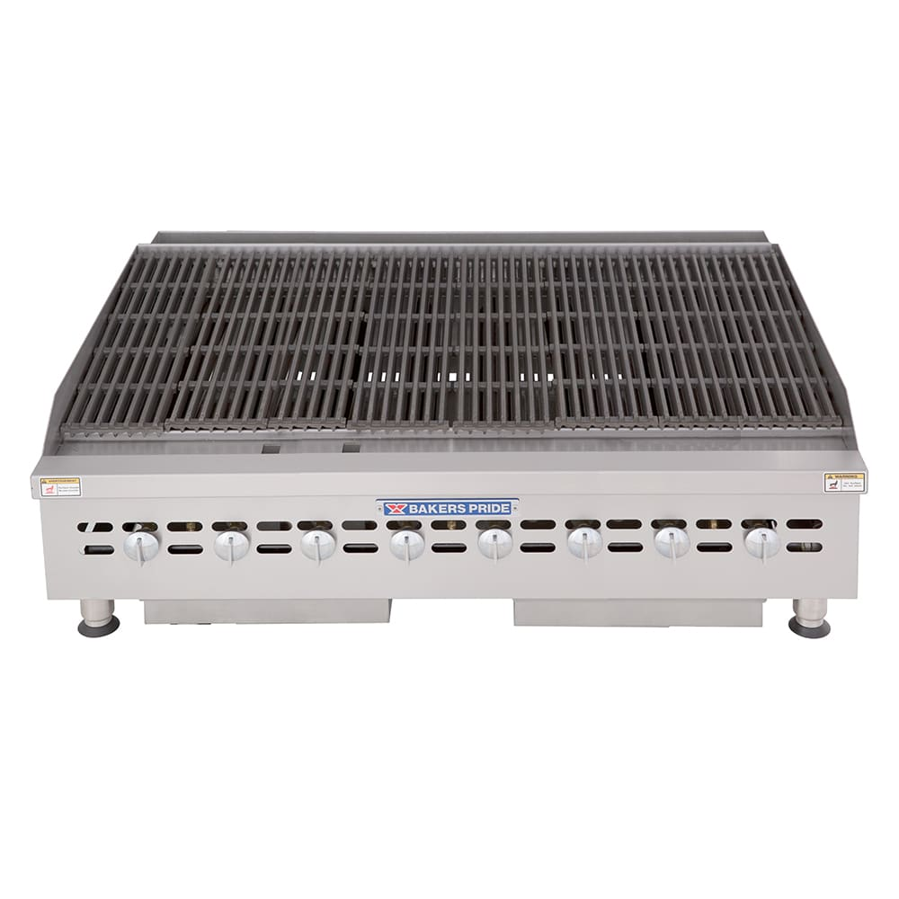 "Bakers Pride BPHCB-2448I 48"" Gas Charbroiler w/ Manual Controls & Steel Radiants, 160,000 BTU, LP"