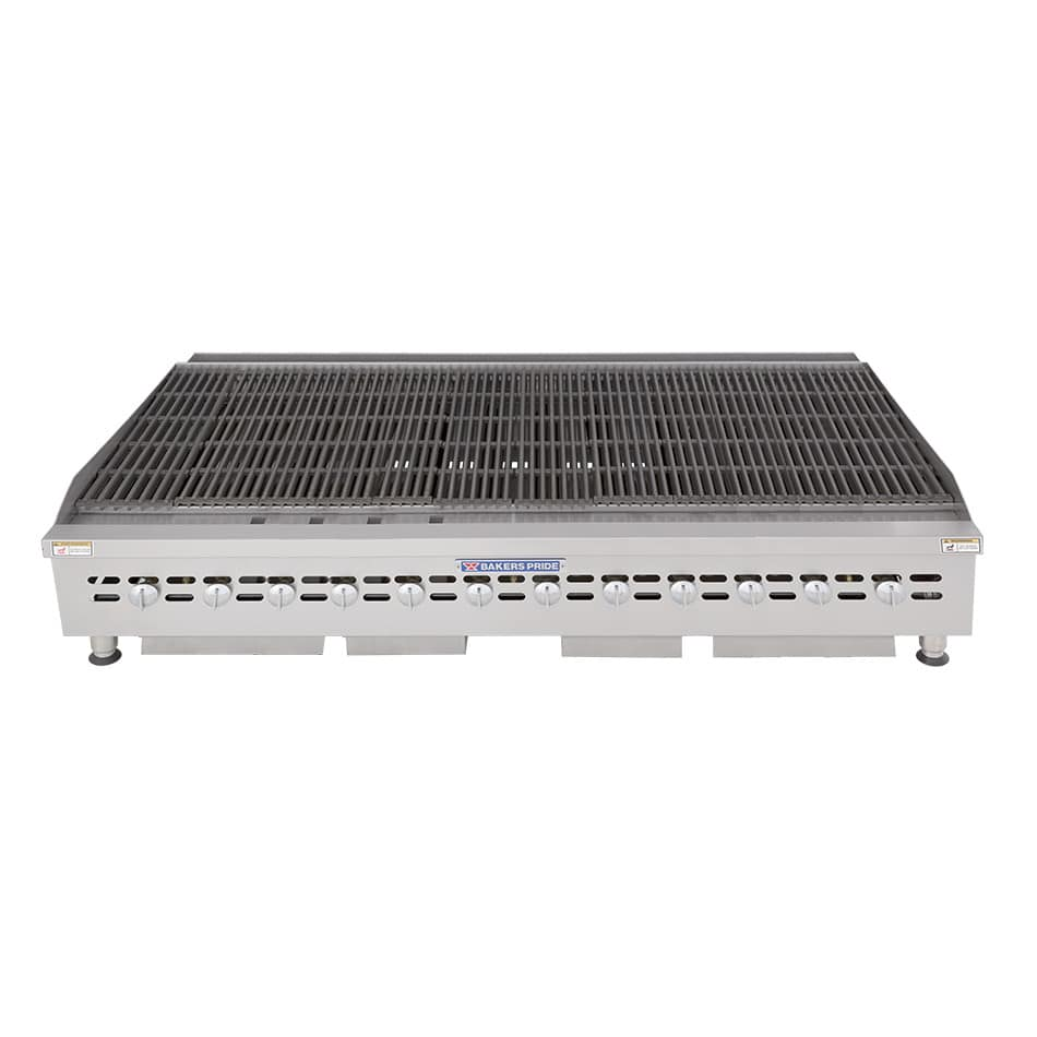 """Bakers Pride BPHCB-2472I 72"""" Gas Charbroiler w/ Cast Iron Grates, LP"""