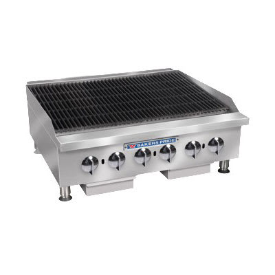 "Bakers Pride BPHCRB-2436I 36"" Gas Charbroiler w/ Manual Controls & Char Rock, 120000 BTU, LP"