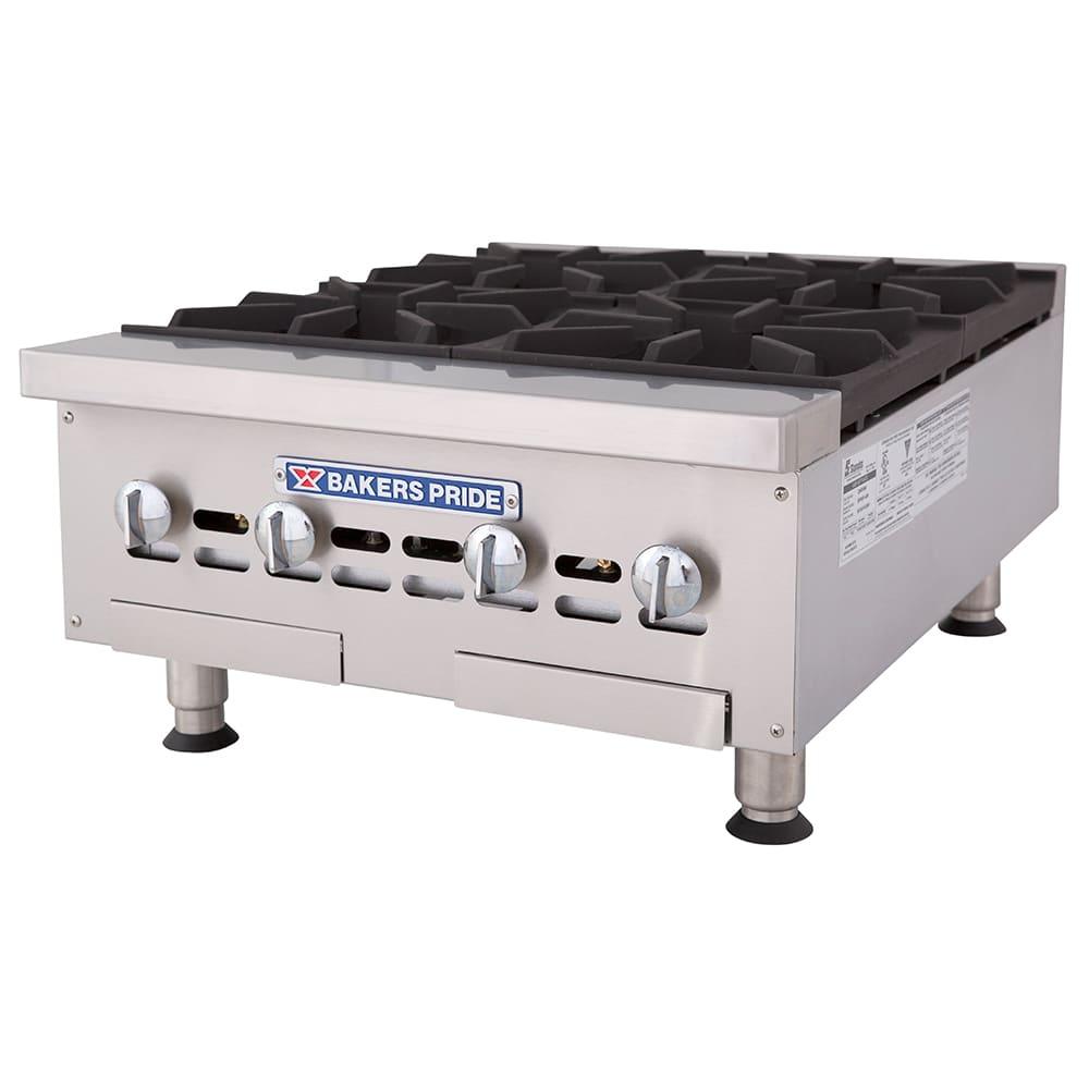 "Bakers Pride BPHHP-424I 24"" Gas Hotplate w/ (4) Burners & Manual Controls, LP"