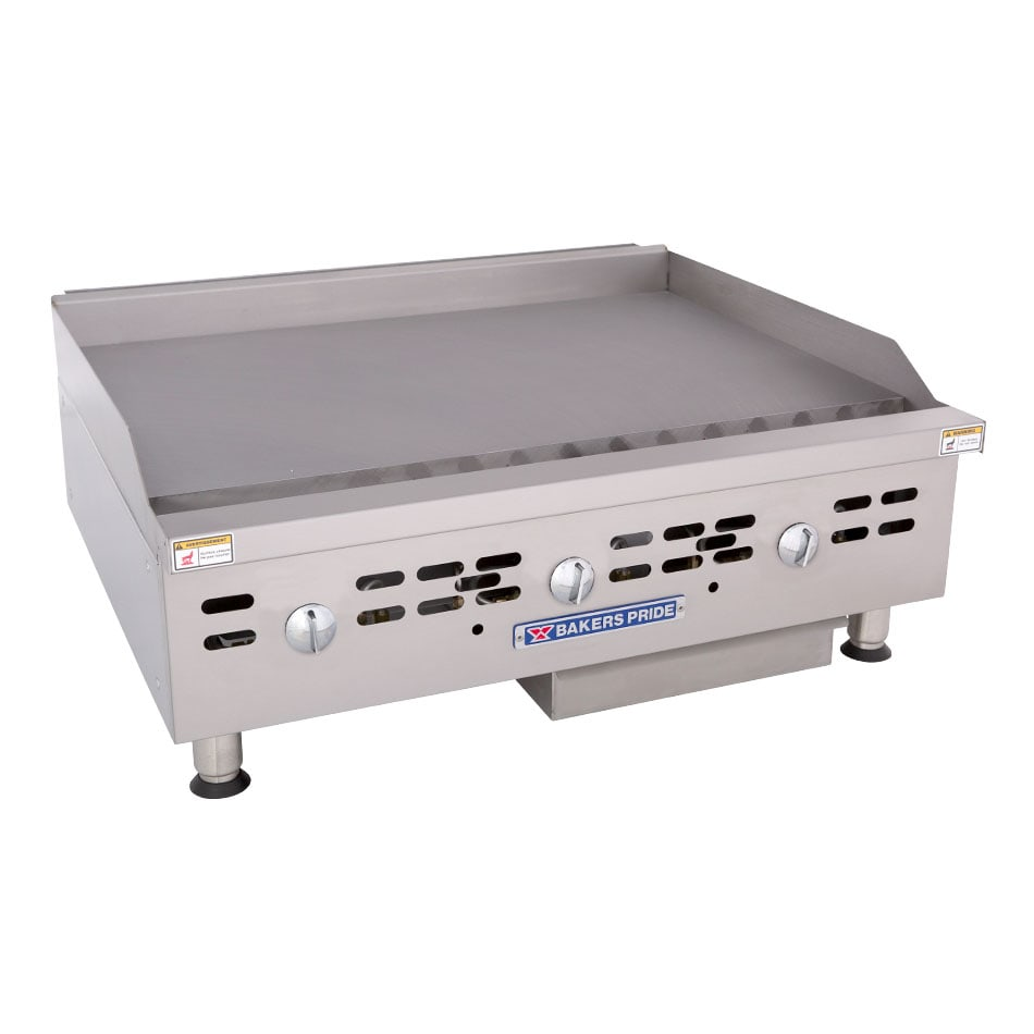 """Bakers Pride BPHMG-2436I 36"""" Gas Griddle - Manual, 1""""  Plate, NG"""