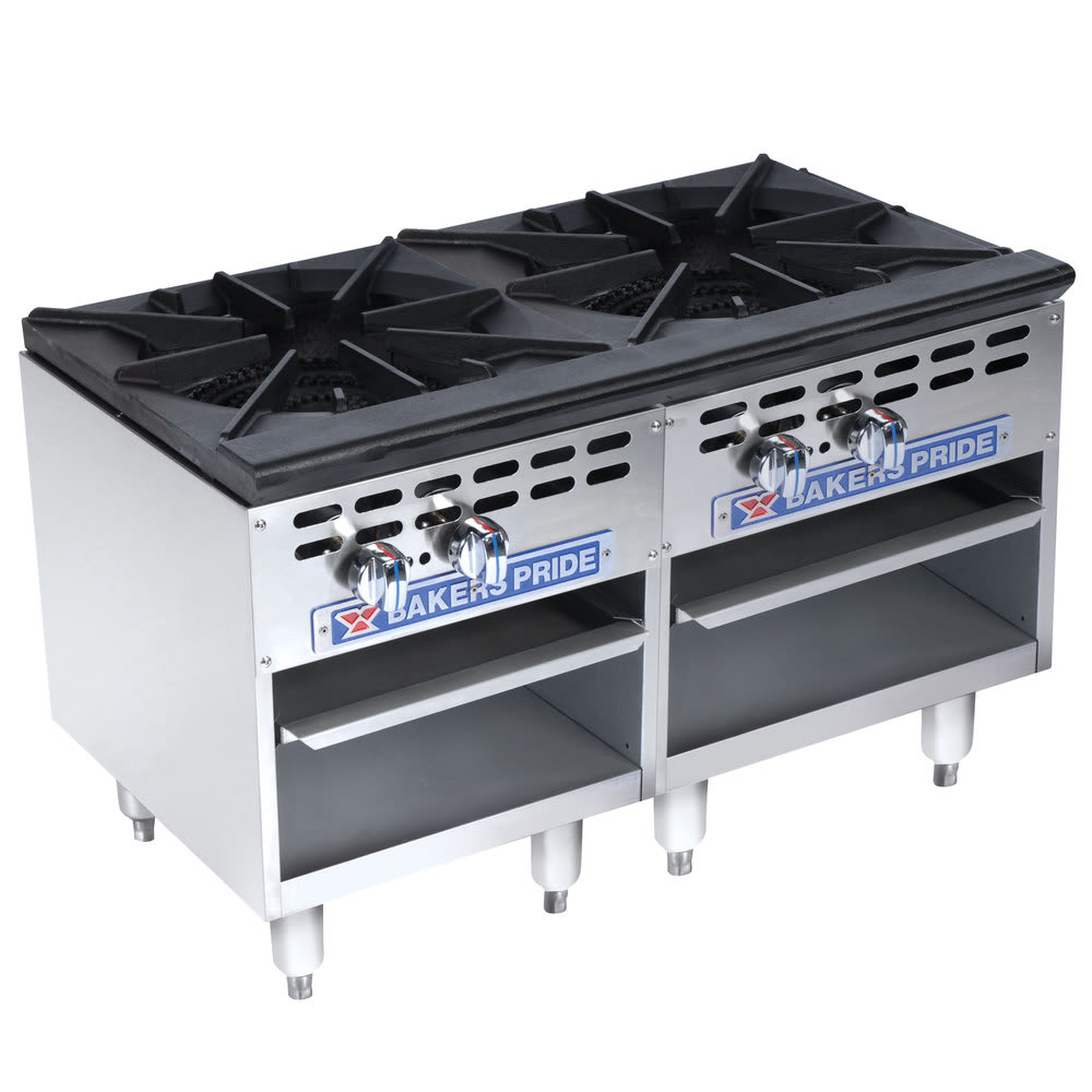 Bakers Pride BPSP-18-2D 2 Burner Stock Pot Range, NG