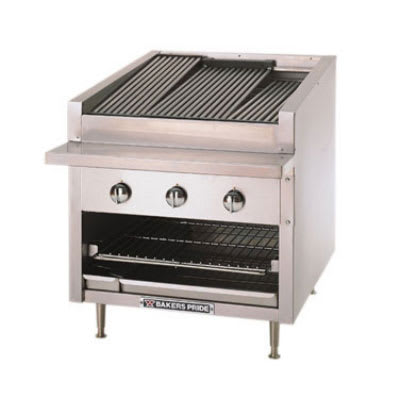 "Bakers Pride C-30R 30"" Gas Charbroiler - Stainless Radiants, NG"