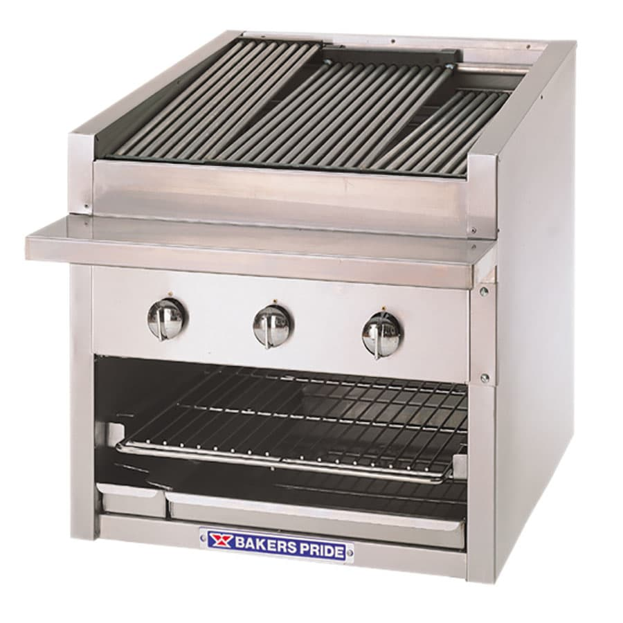 "Bakers Pride C-48R 48"" Gas Charbroiler w/ Floating Steel Grates, NG"
