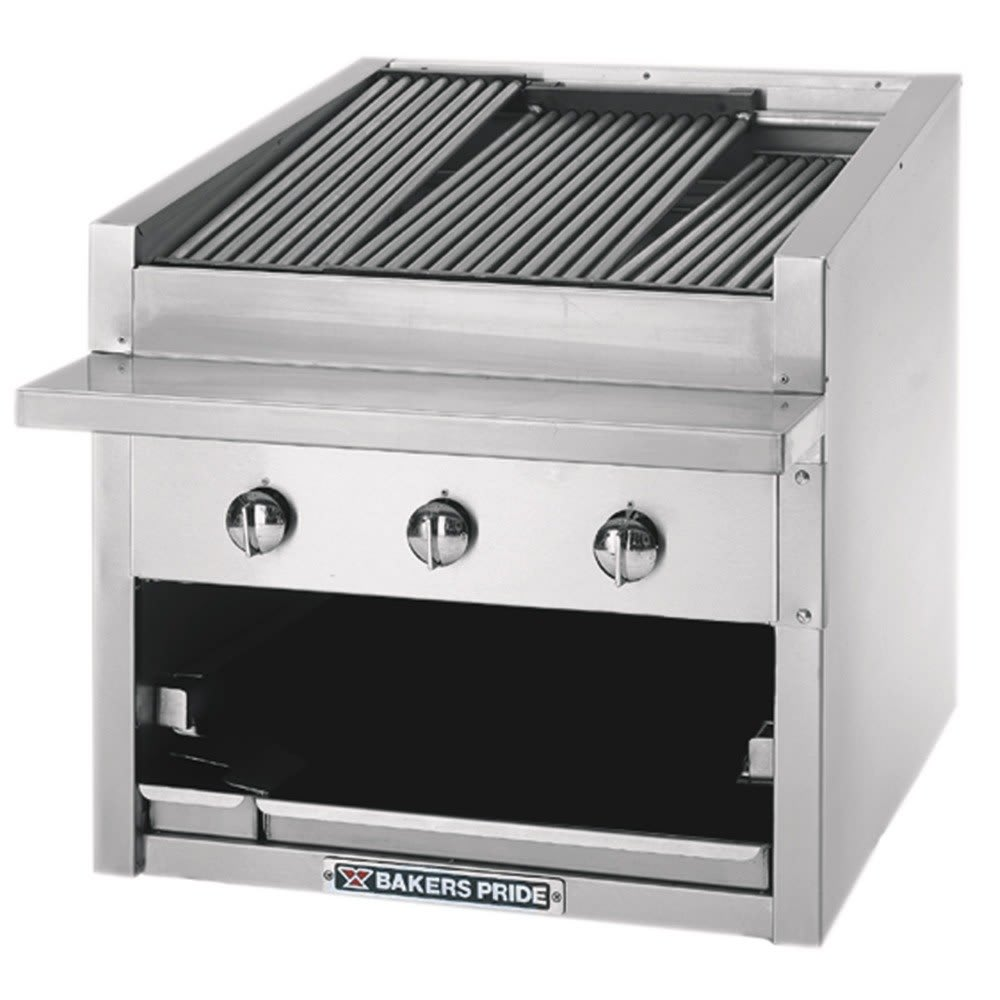 """Bakers Pride C-72R 72"""" Gas Charbroiler w/ Cast Iron Grates, NG"""