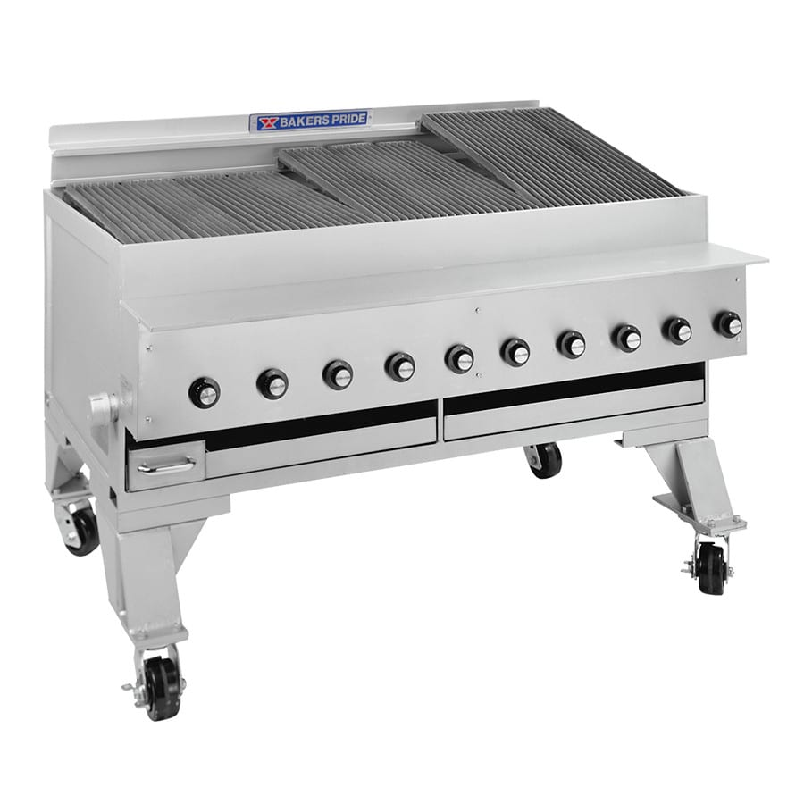 """Bakers Pride CH-10 53.75"""" Gas Charbroiler w/ Cast Iron Grates, NG"""