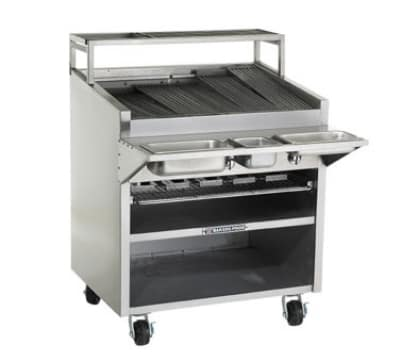 """Bakers Pride F-36GS 36"""" Gas Charbroiler w/Adjustable Floating Grate & Char Rock, NG"""