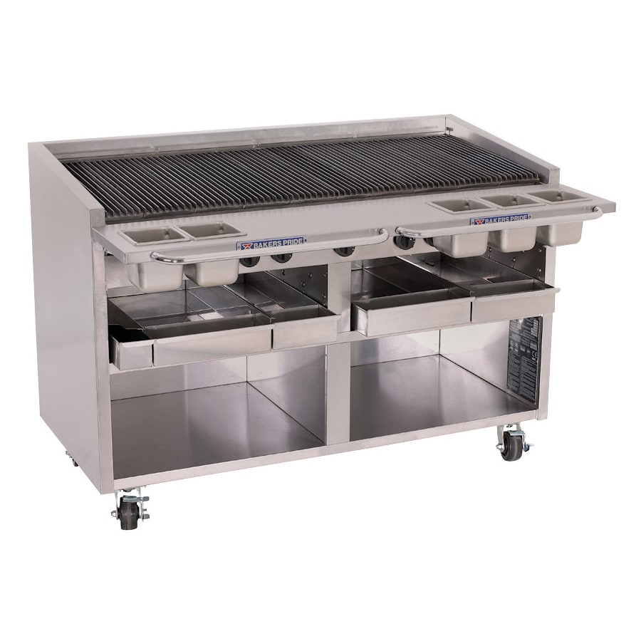 """Bakers Pride F-60R 60"""" Gas Charbroiler w/ Cast Iron Grates, NG"""