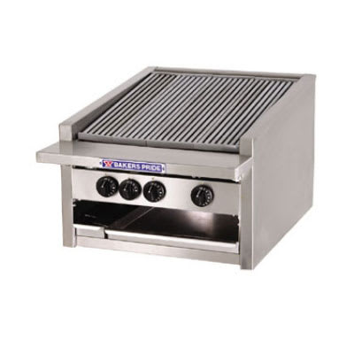 "Bakers Pride L-24R 24"" Gas Charbroiler - (5) Stainless Radiants, Low Profile, NG"