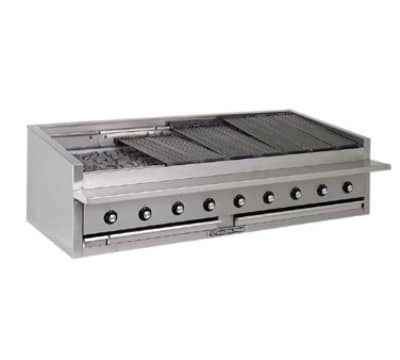 "Bakers Pride L-48R 48"" Gas Charbroiler - (11) Stainless Radiants, Low Profile, NG"
