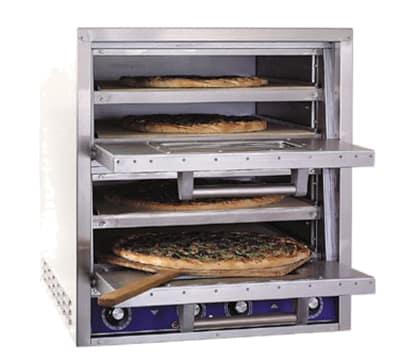 Bakers Pride P44-BL Countertop Pizza/Pretzel Oven - Double Deck, 208v/1ph
