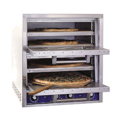 Bakers Pride P44-BL Countertop Pizza/Pretzel Oven - Double Deck, 220-240v/1ph