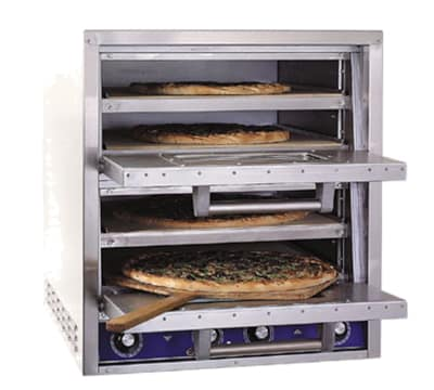 Bakers Pride P44S Countertop Pizza/Pretzel Oven - Double Deck, 240v/1ph