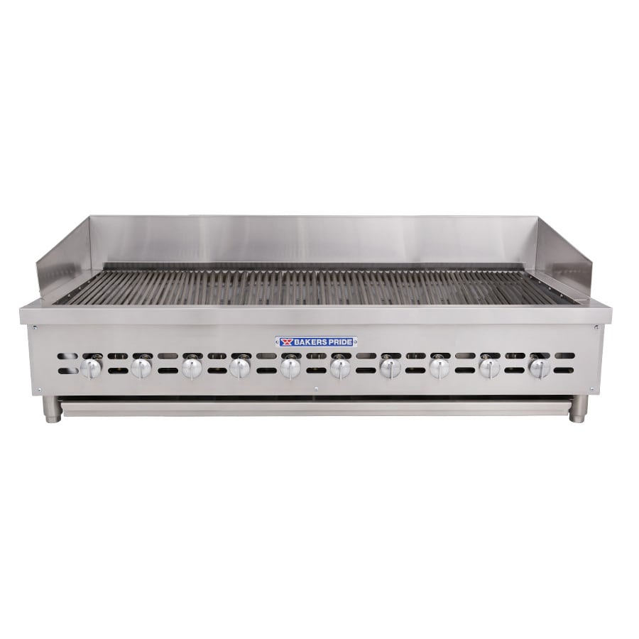 "Bakers Pride XX-10 52.5"" Gas Charbroiler w/ Cast Iron Grates, NG"