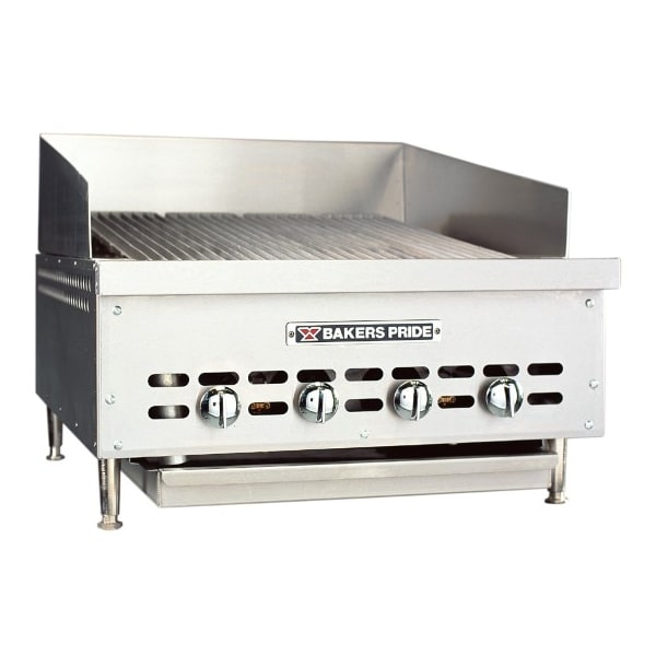 "Bakers Pride XX-4 26.25"" Gas Charbroiler - (4) Stainless Radiants, NG"