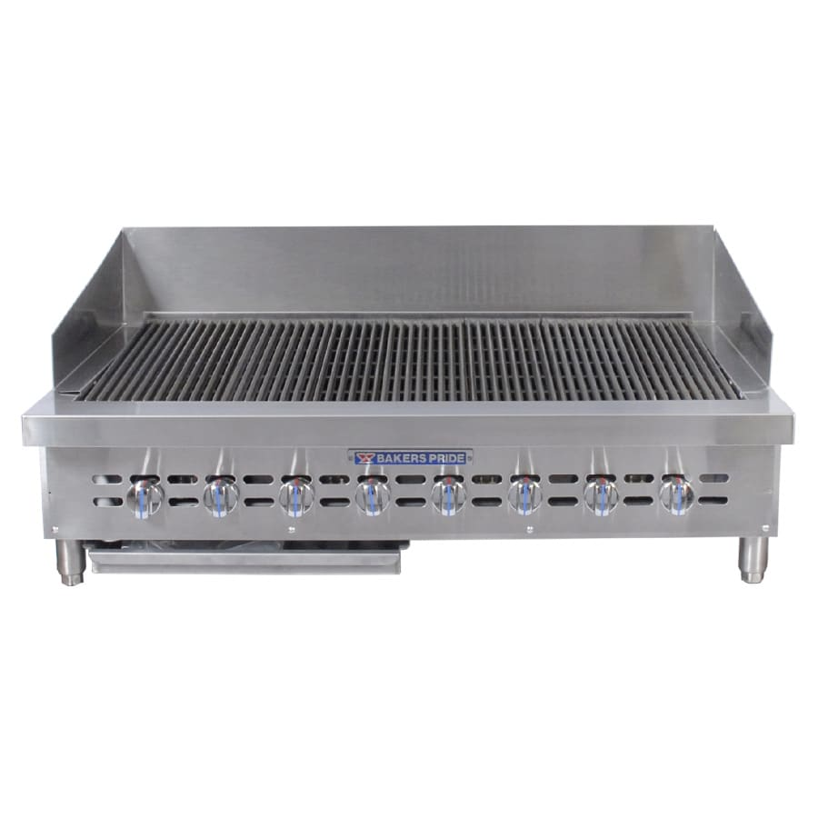 """Bakers Pride XX-8 42"""" Gas Charbroiler w/ Cast Iron Grates, NG"""