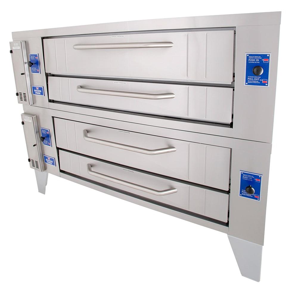Bakers Pride Y-602 Double Pizza Deck Oven, LP