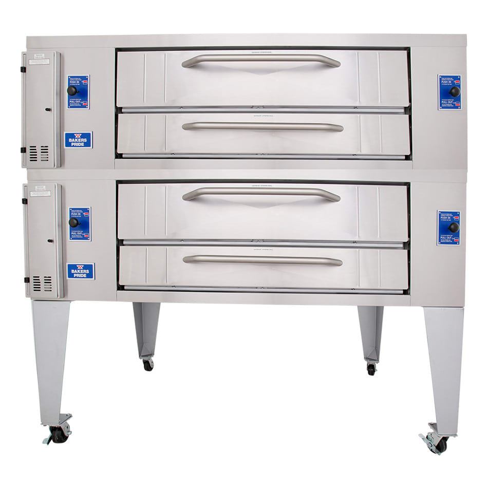 Bakers Pride Y-802BL Double Pizza Deck Oven, NG