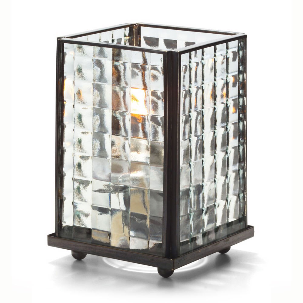 """Hollowick 1400CSQO Square Panel Lamp w/ Optic Glass, 5-1/8"""" H x 3-1/8"""" W, Clear"""