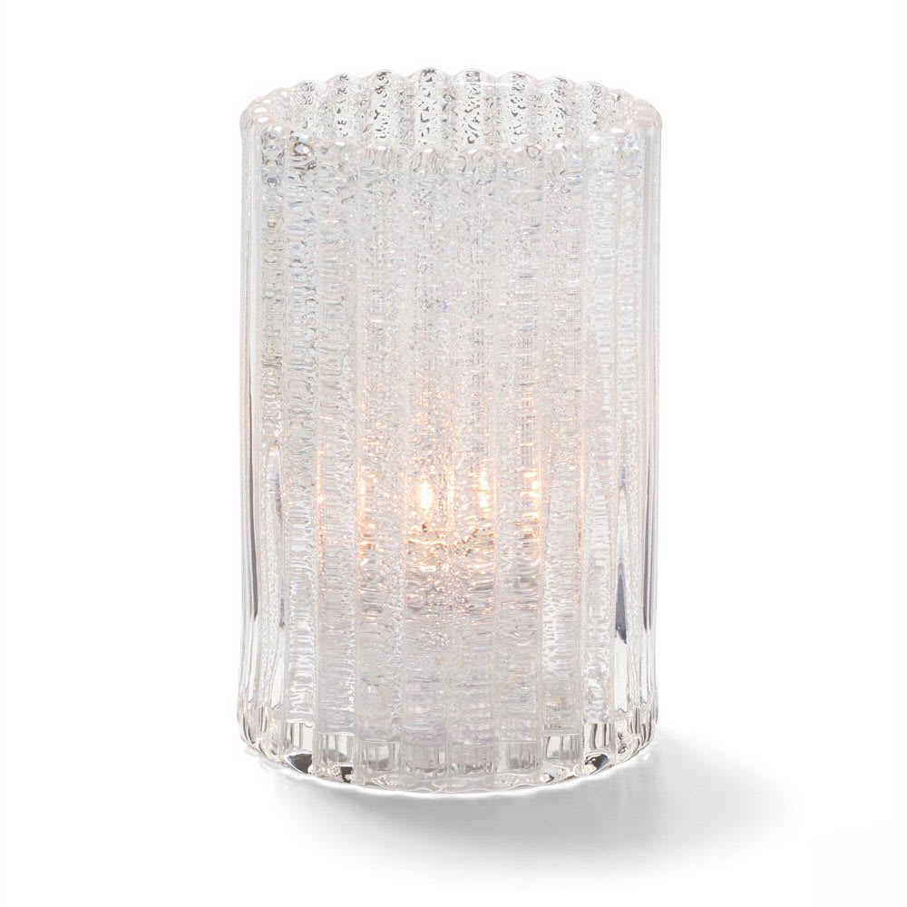 "Hollowick 1502CJ Vertical Glass Rod Lamp w/ Cylinder Shape, 2.88x4.63"", Clear Jewel"