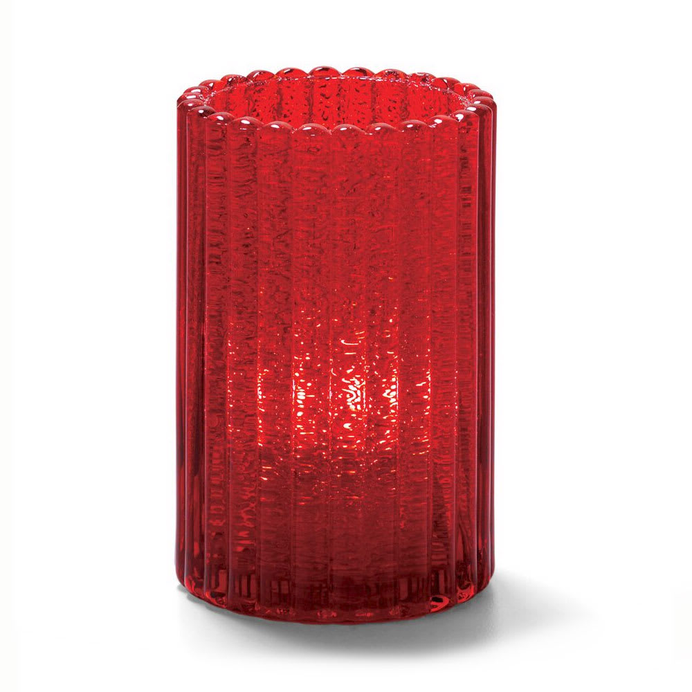 "Hollowick 1502RJ Vertical Glass Rod Lamp w/ Cylinder Shape, 2.88x4.63"", Ruby Jewel"