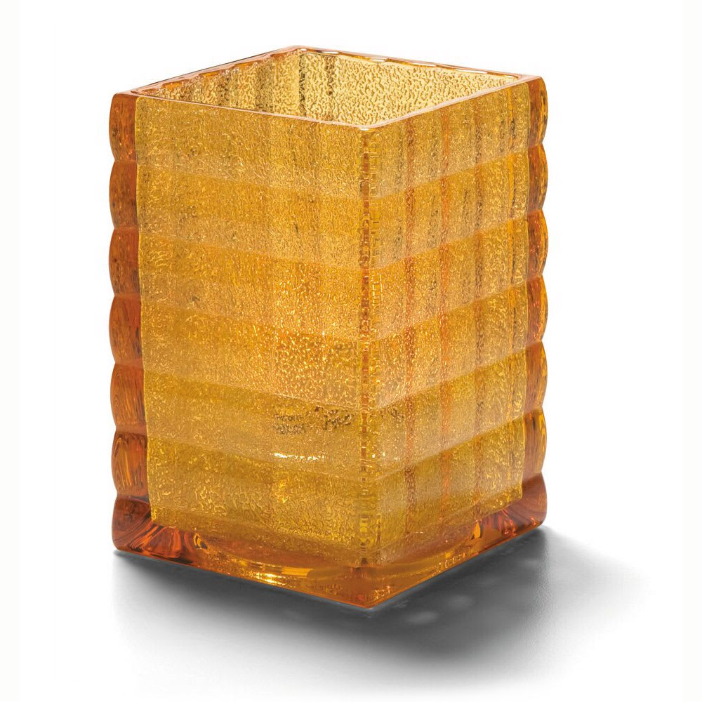 "Hollowick 1533AJ Square Optic Glass Block for HD12, HD17 & HD26, 2.63x3.75"", Amber Jewel"