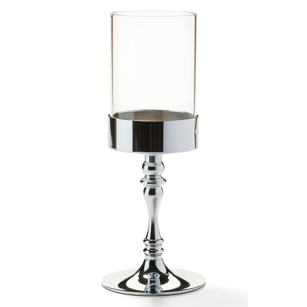 "Hollowick 277PC Classic Candlestick Base w/ Shade Support, 9.38x3.63"", Polished Chrome"