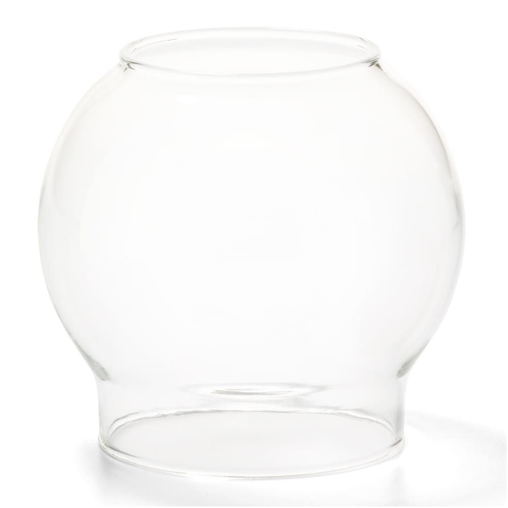 "Hollowick 35C Fitter Globe for 3"" Fitter Base, 3.38x3.13"", Glass, Clear Bubble"