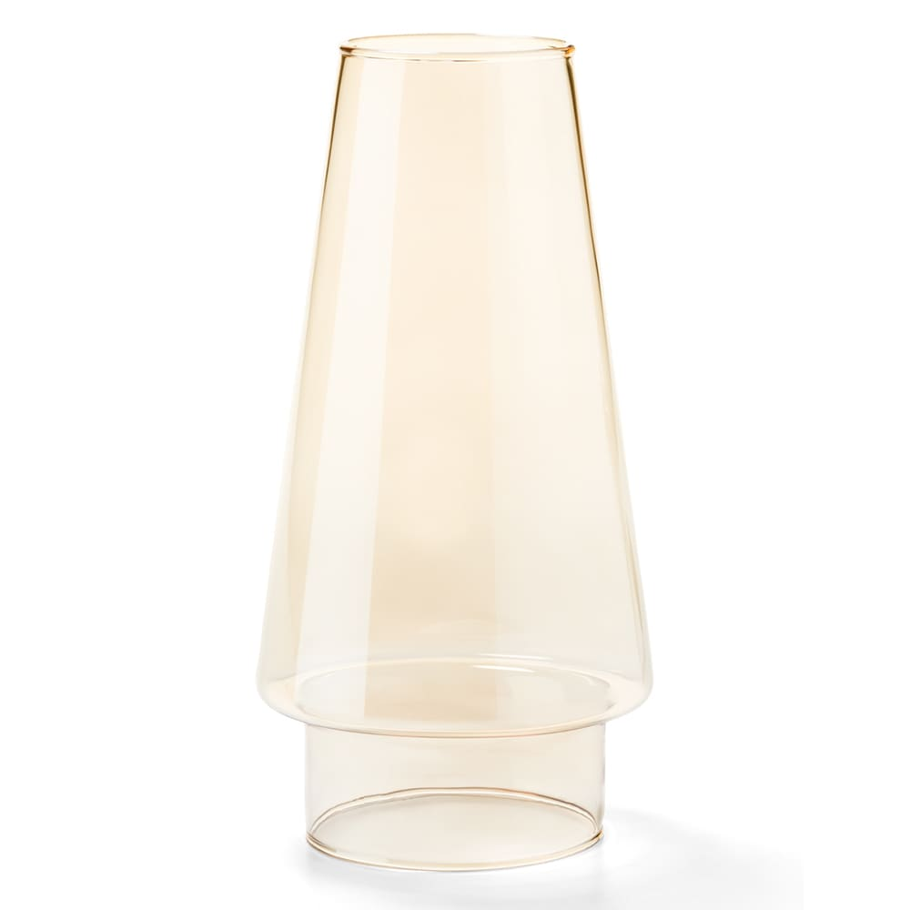 "Hollowick 36AL Fitter Globe w/ Conical Shape for 3"" Fitter Bases, 4x76.75"", Glass, Amber Lustre"