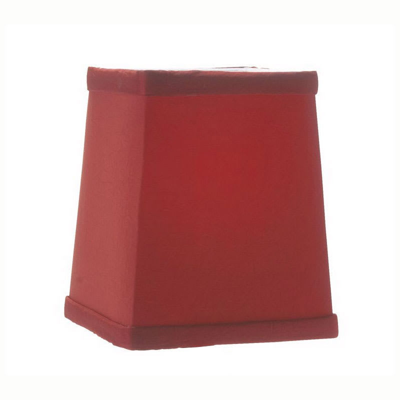 """Hollowick 393R Tapered Candlestick Shade w/ Square Shape, 4.75x4.25"""", Fabric, Scarlet"""