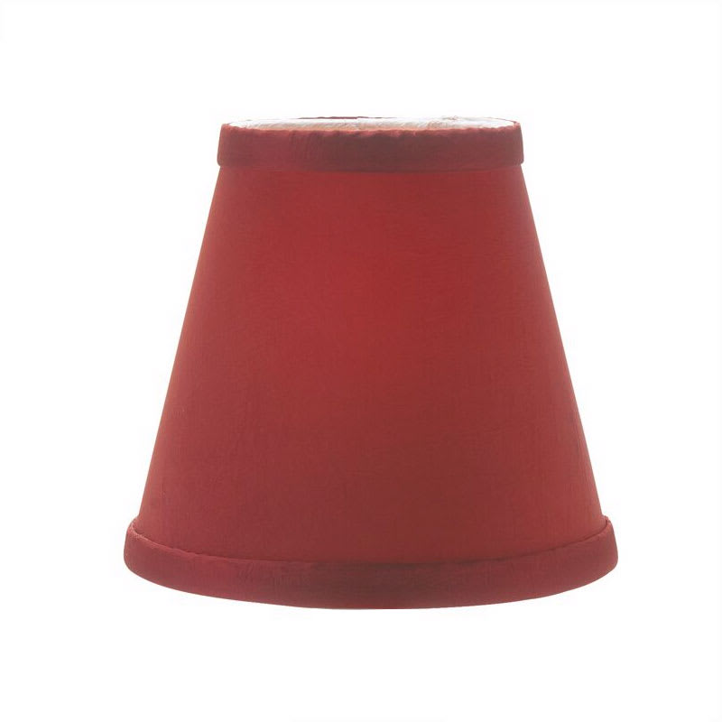 "Hollowick 395R Empire Candlestick Shade, 4.5x5.13"", Fabric, Scarlet"