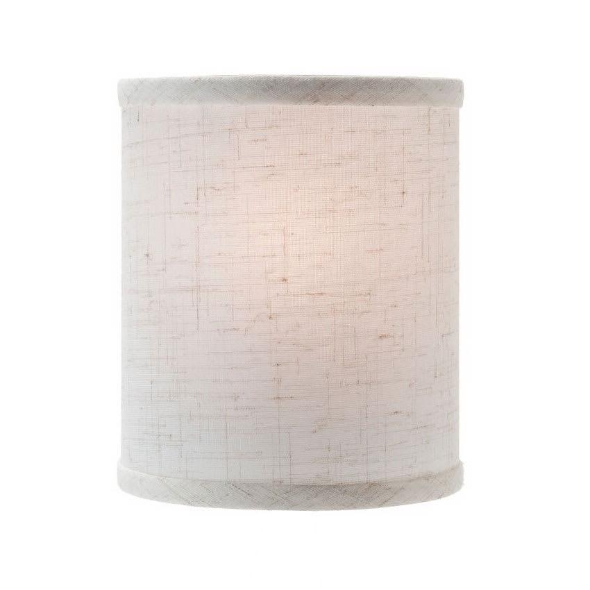 "Hollowick 397FL Candlestick Shade w/ Drum Shape, 5.38x5.75"", Fabric, Flax"