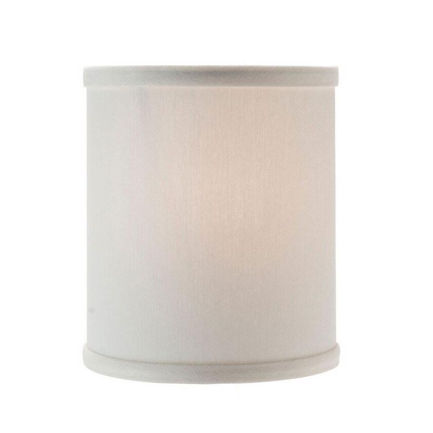 "Hollowick 397I Candlestick Shade w/ Drum Shape, 5.38x5.75"", Fabric, Ivory"