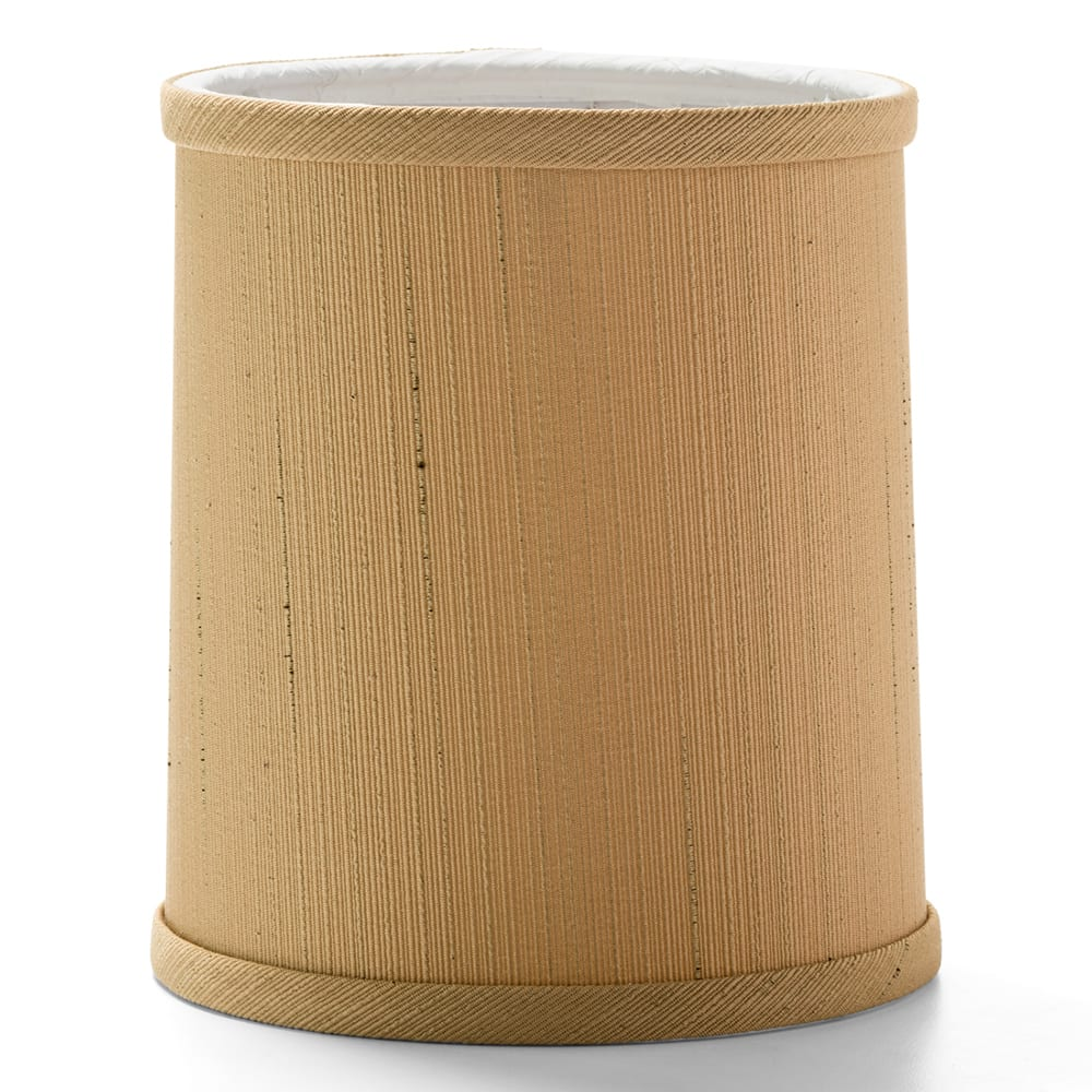 """Hollowick 397SS Round Candlestick Shade - 5.38"""" x 4.18"""", Fabric, Sandstone"""