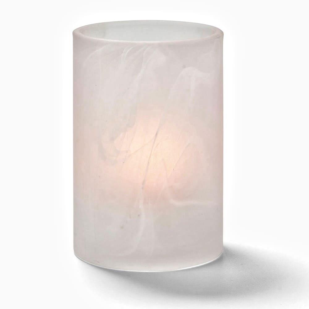 Hollowick 44017SC Wysp Votive Lamp for HD12, HD17, & HD26, Satin Crystal