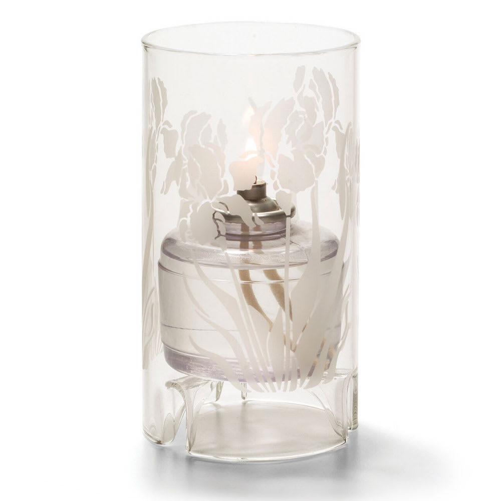 "Hollowick 48000C-IRIS Cylinder Lamp for HD36, 5.5x3"", Glass, Clear/Iris"