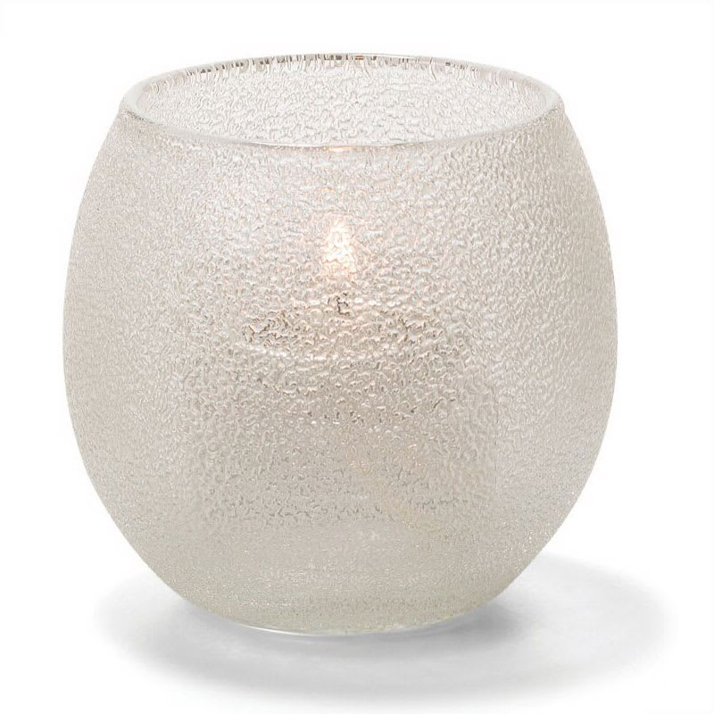 "Hollowick 5119CI Tealight Lamp w/ Bubble Style, 2.63x2.38"", Glass, Clear Ice"