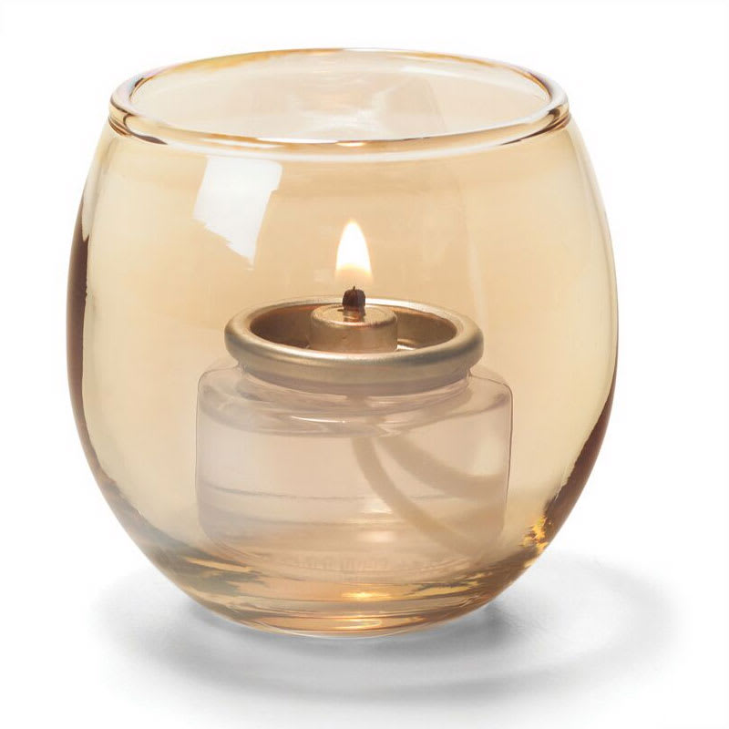 "Hollowick 5119G Tealight Lamp w/ Bubble Style, 2.63x2.38"", Glass, Gold"