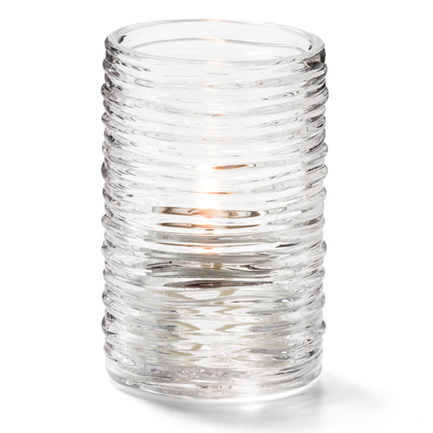 "Hollowick 5125C Typhoon Tealight Candle Holder for HD8 - 2.13"" x 3.25"", Clear"