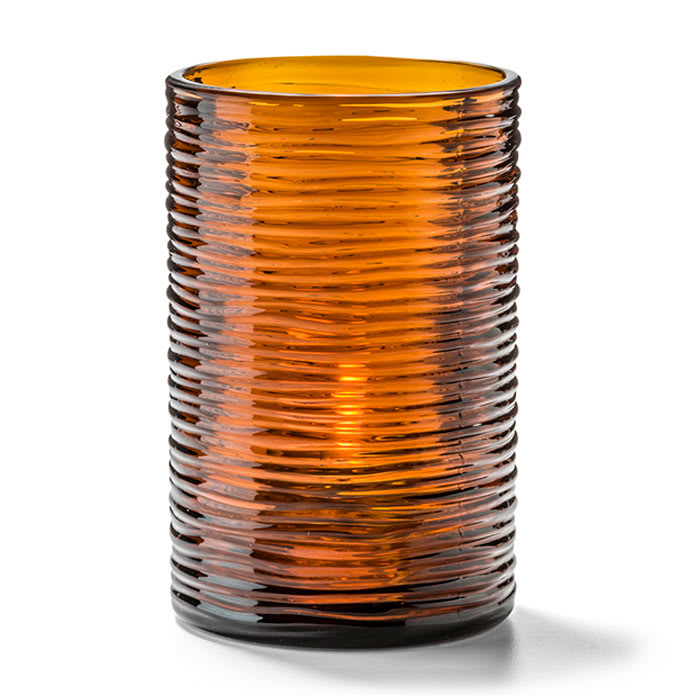 "Hollowick 5125DA Typhoon Tealight Candle Holder for HD8 - 2.13"" x 3.25"", Amber"